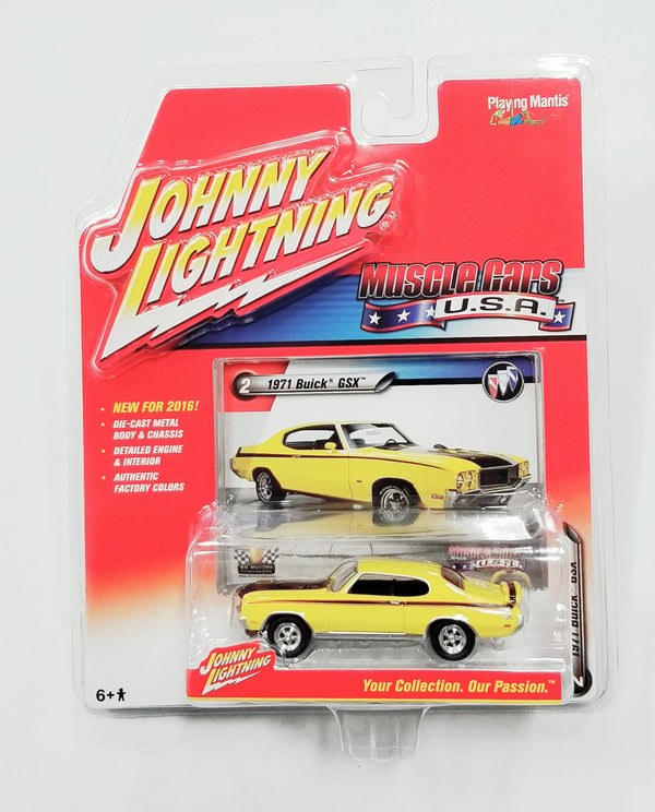 Johnny Lightning 1970 Buick GSX (Yellow) Die Cast Car 2016 Series NIP