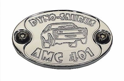 Aluminum Metal Car Badge fits AMC 401 Engine Fender Hood Emblem E6008