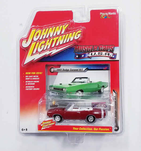 Johnny Lightning 1969 DODGE CORONET R/T Die Cast Car 2016 Series Release 1