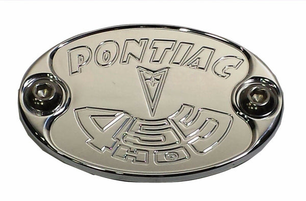 Aluminum Metal Car Badge PONTIAC 455 HO GTO Engine Fender Hood USA E6013