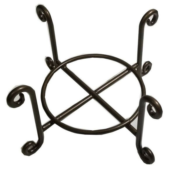 "Wire Coaster Holder, Bronze, 4 Post Heavy Wire Scroll for 4"" Round Coasters"