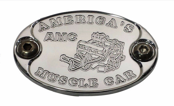Aluminum Metal Car Badge fits AMC AMX 360 390 401 Engine Fender Hood E6014