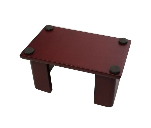 "Coaster Holder, Wood, for 4"" Round or Square Style Coasters, Dark Mahogany Finish"
