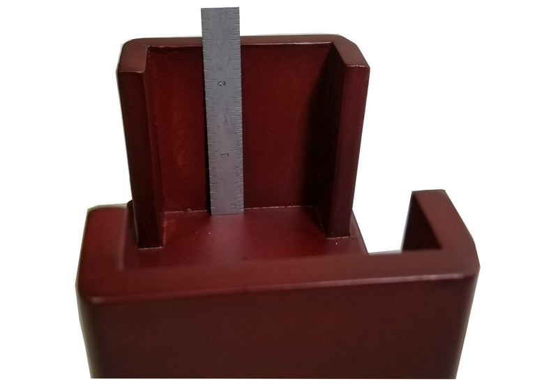 "Coaster Holder, Wood, for 4"" Round or Square Style Coasters, Dark Cherry Finish"