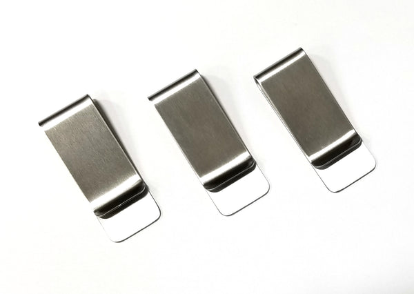 Lot of 3 Stainless Steel Money Clip Card Holder Metal Money Clip Card Holder USA