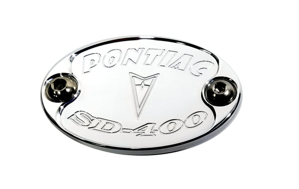 Aluminum Metal Car Badge Pontiac 400 SD Engine Fender Hood Emblem USA E6016