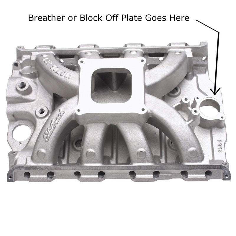 Intake Manifold Breather Block Off Plate fits  Ford FE Engines M1004