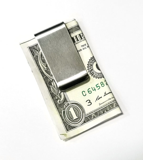 Lot of 2 Stainless Steel Money Clip Card Holder Metal Money Clip Card Holder USA