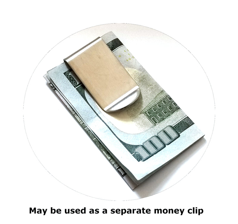Mens Credit Card Wallet Slim, Metal Aluminum RFID Blocking  SS 454 Chevy RFD027