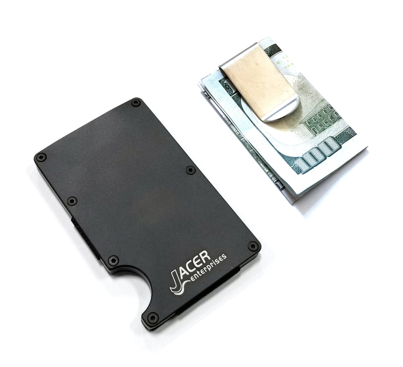 Mens Credit Card Wallet Slim, Metal Aluminum RFID Blocking, Soccer RFD053