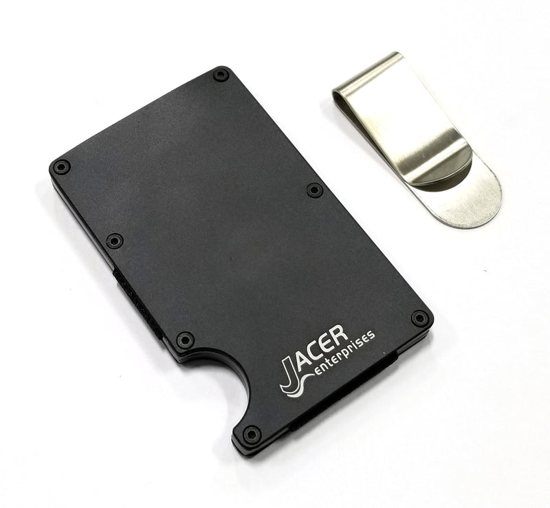 Mens Credit Card Wallet Slim Metal RFID Blocking - Detachable Money Clip RFD003