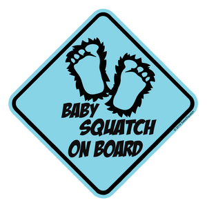 WHOLESALE 25pack-- BABY SQUATCH ON BOARD! (BLUE)