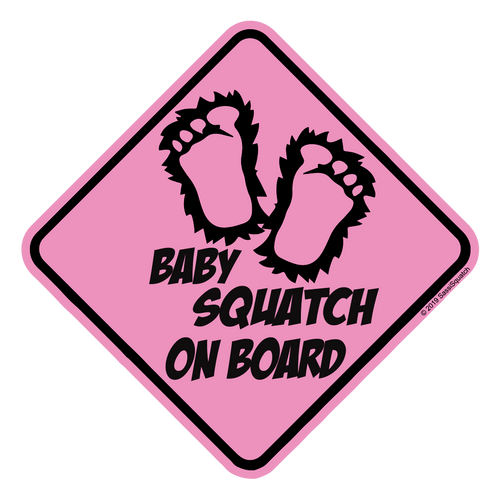 WHOLESALE 25pack -- BABY SQUATCH ON BOARD! (PINK)