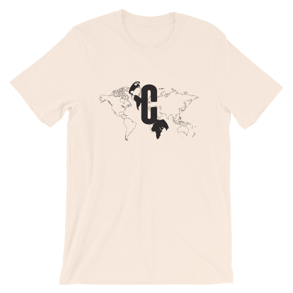 Men's Logomark Map Black Crew Neck