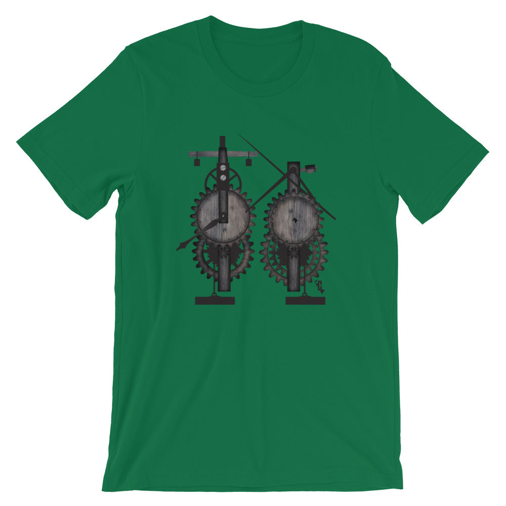 Women's Mechanical Clock Crew Neck