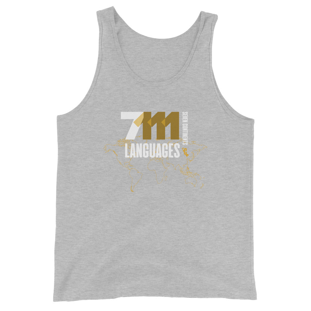 Men's Seventy-One Eleven White Slim Fit Tank Top