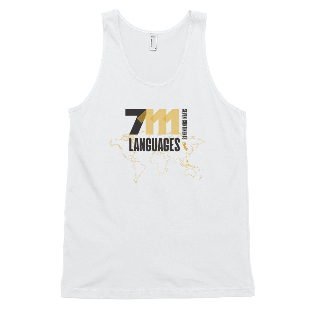 Men's Seventy-One Eleven Black Loose Fit Tank Top