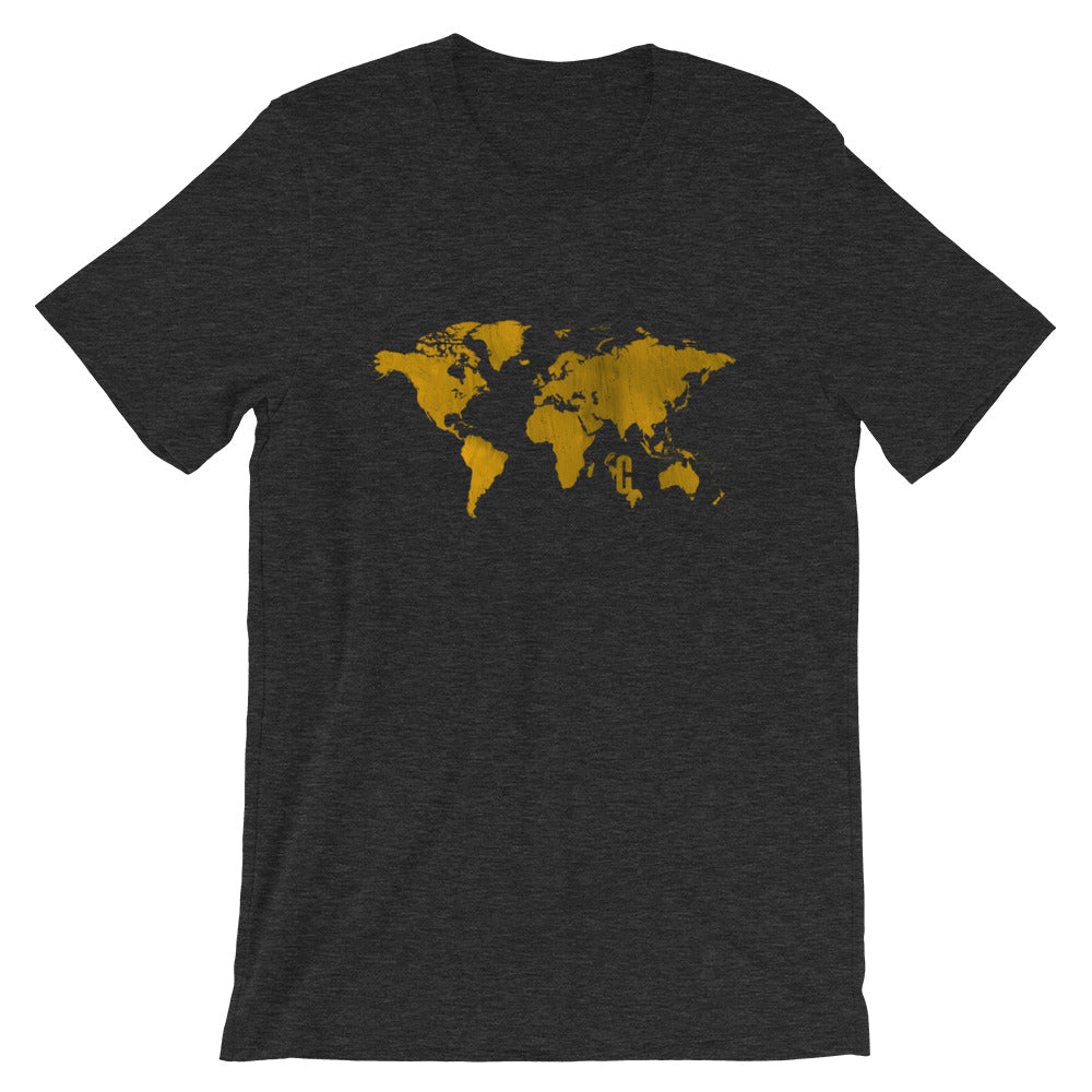 Women's Gold Mapped Crew Neck