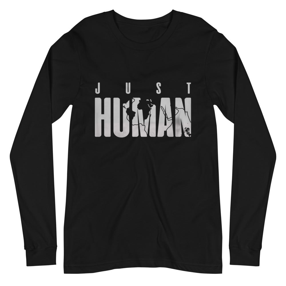 Men's JUST HUMAN Grey Ice Long Sleeve Crew Neck