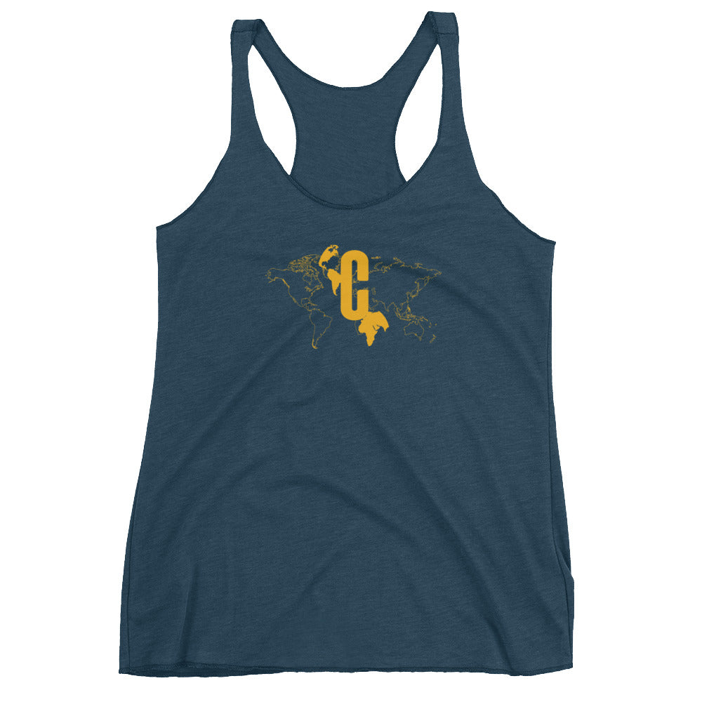 Women's Logomark Map Yellow Racerback Tank Top