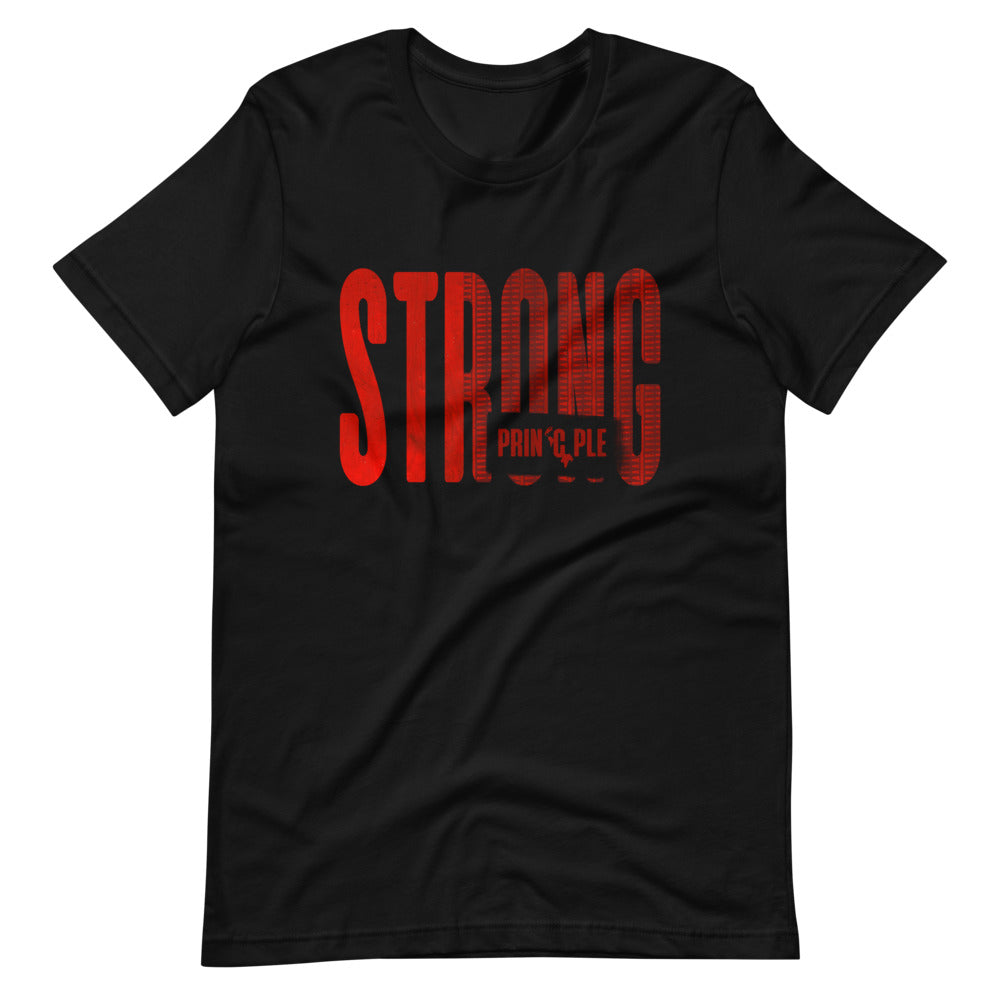 Men's Red-Striped Strong PrinCple Crew Neck