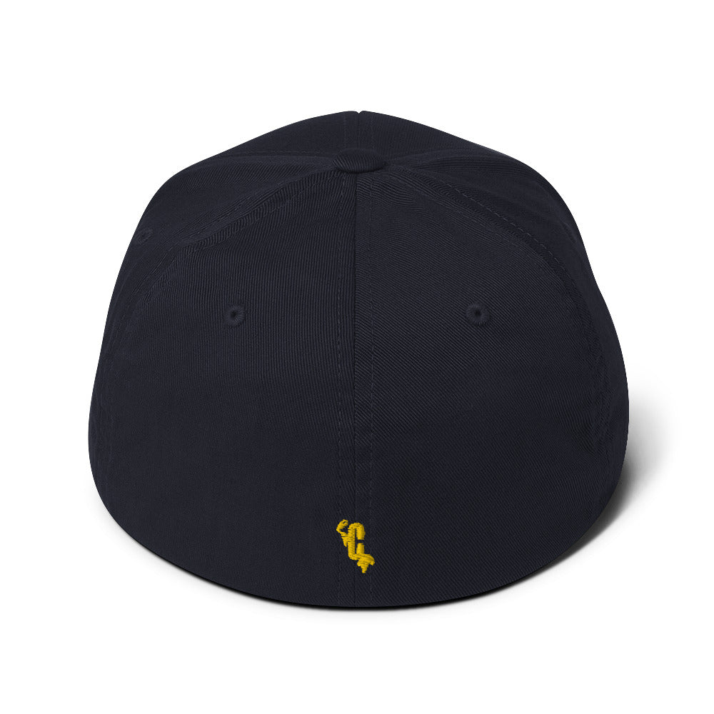 HUMAN Flexifit Structured Closed-Back Twill Yellow Cap