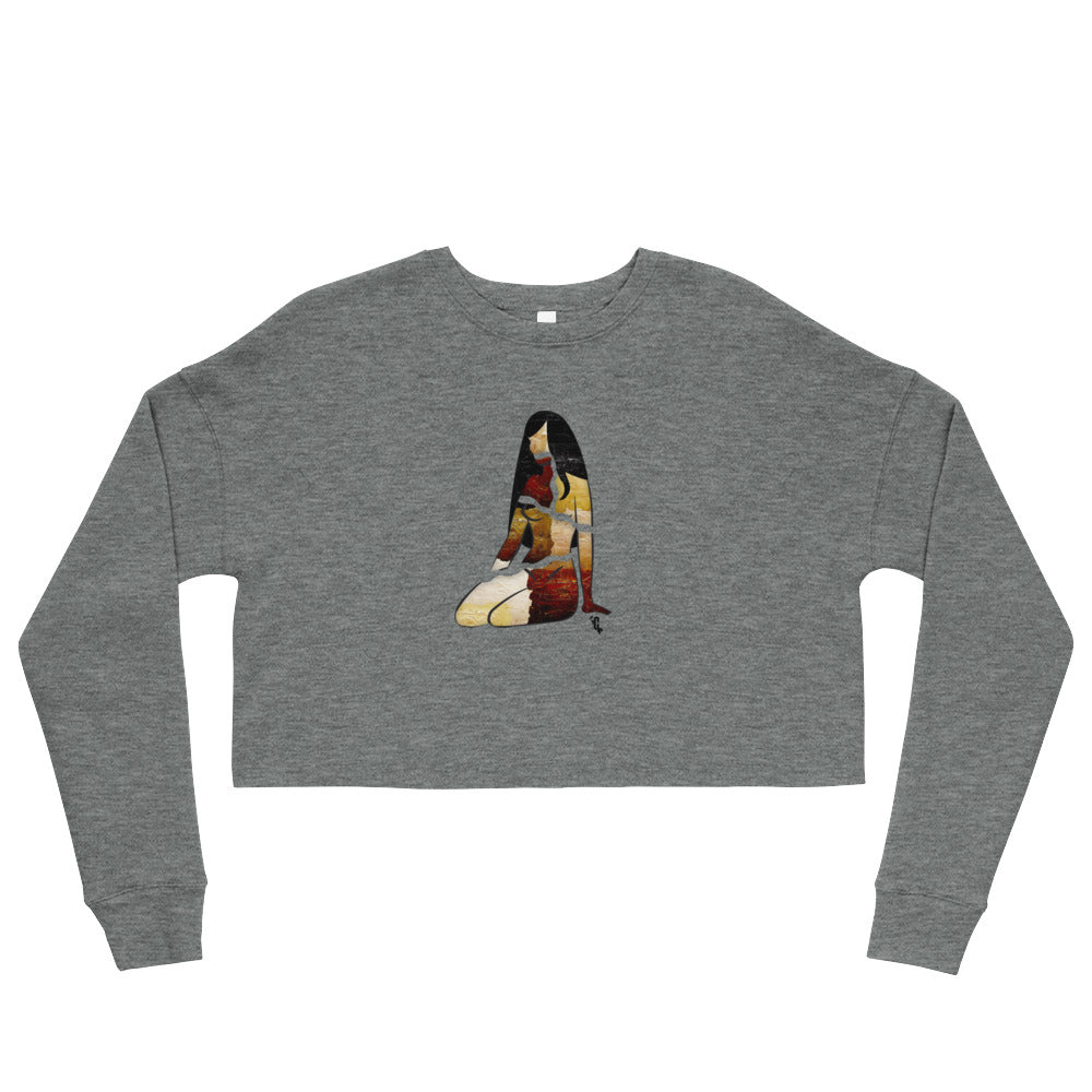 Women's Melanin Painted Straight Cropped Sweatshirt