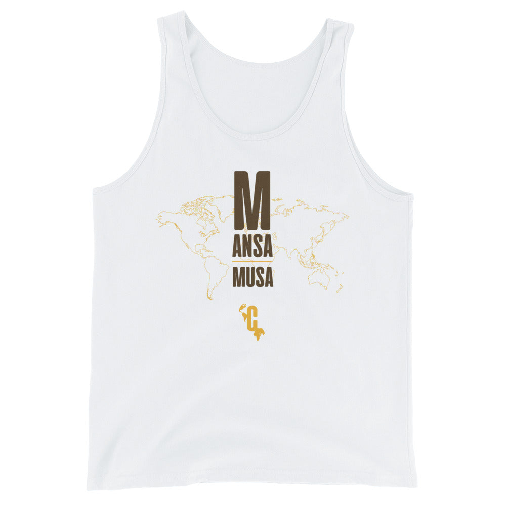 Men's Mansa Musa Mapped Slim Fit Tank Top