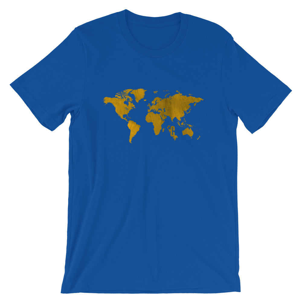 Men's Gold Mapped Crew Neck