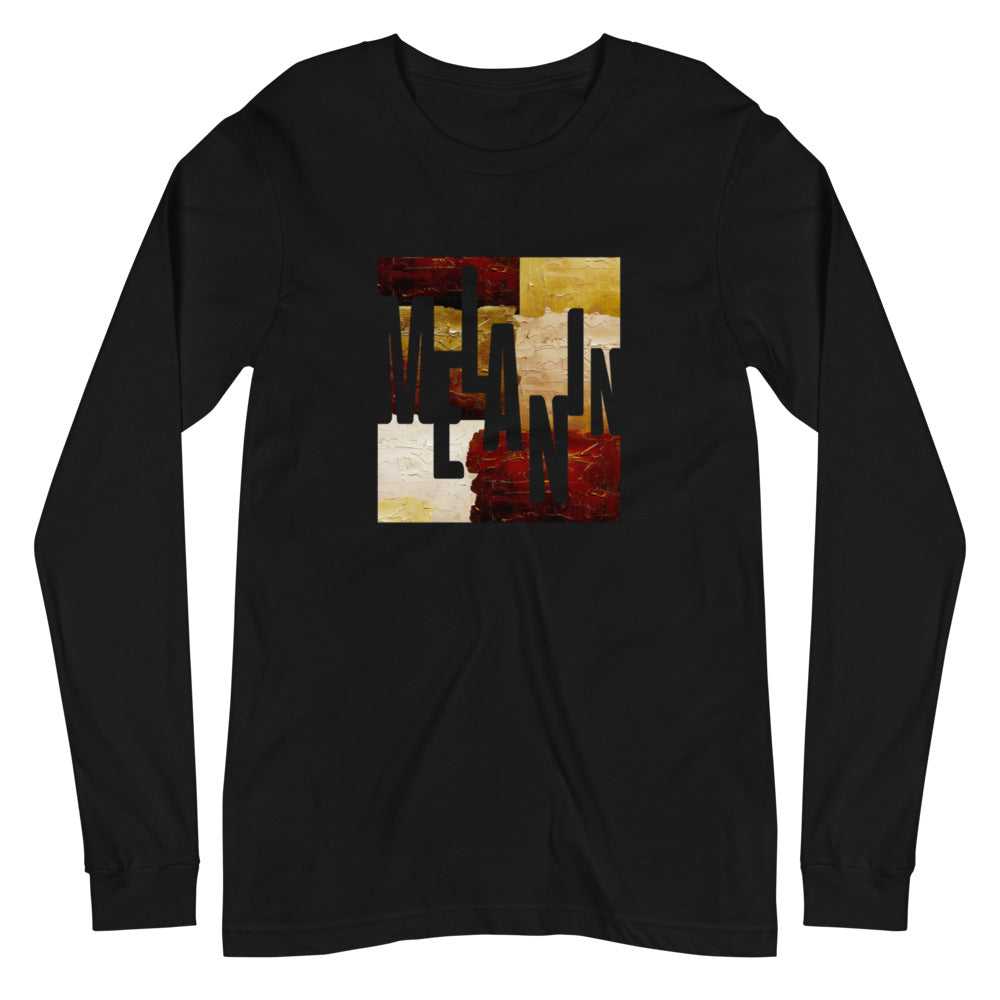 Men's Melanin Painted Long Sleeve Crew Neck