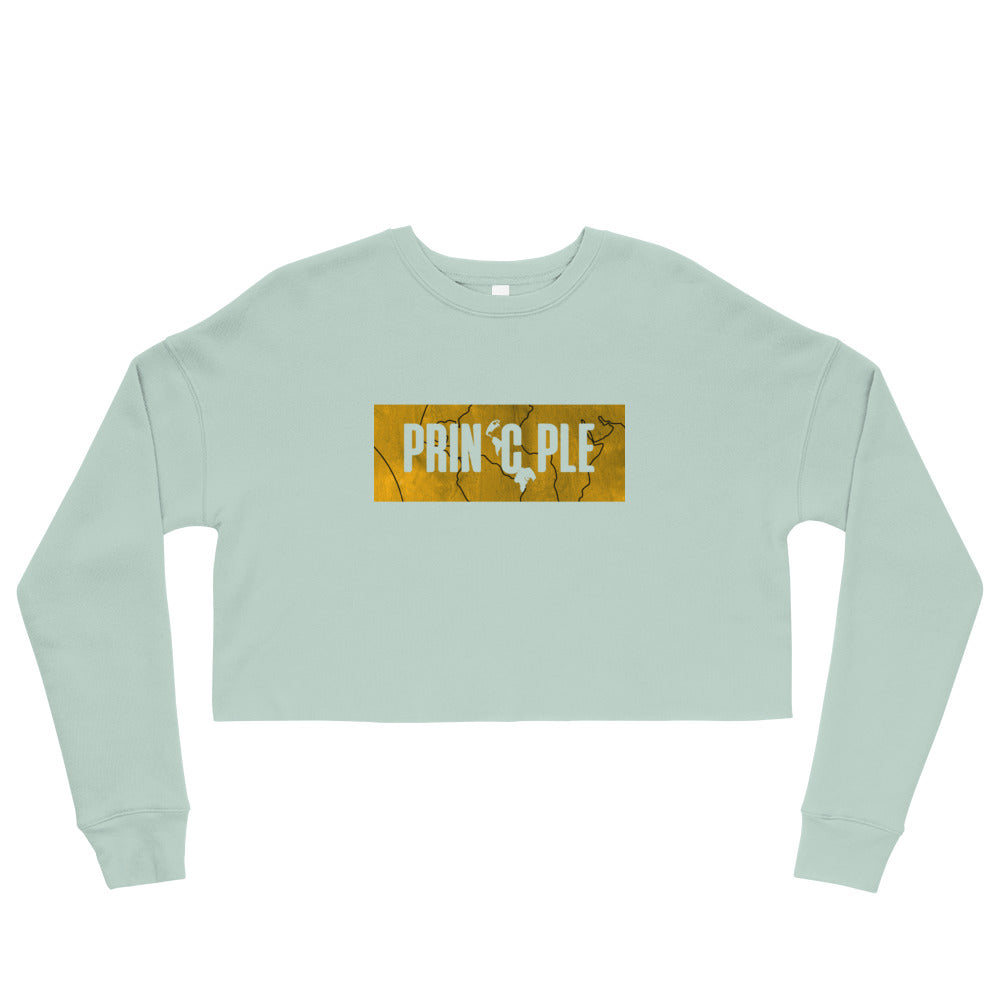Women's PrinCple Gold Knockout Cropped Sweatshirt