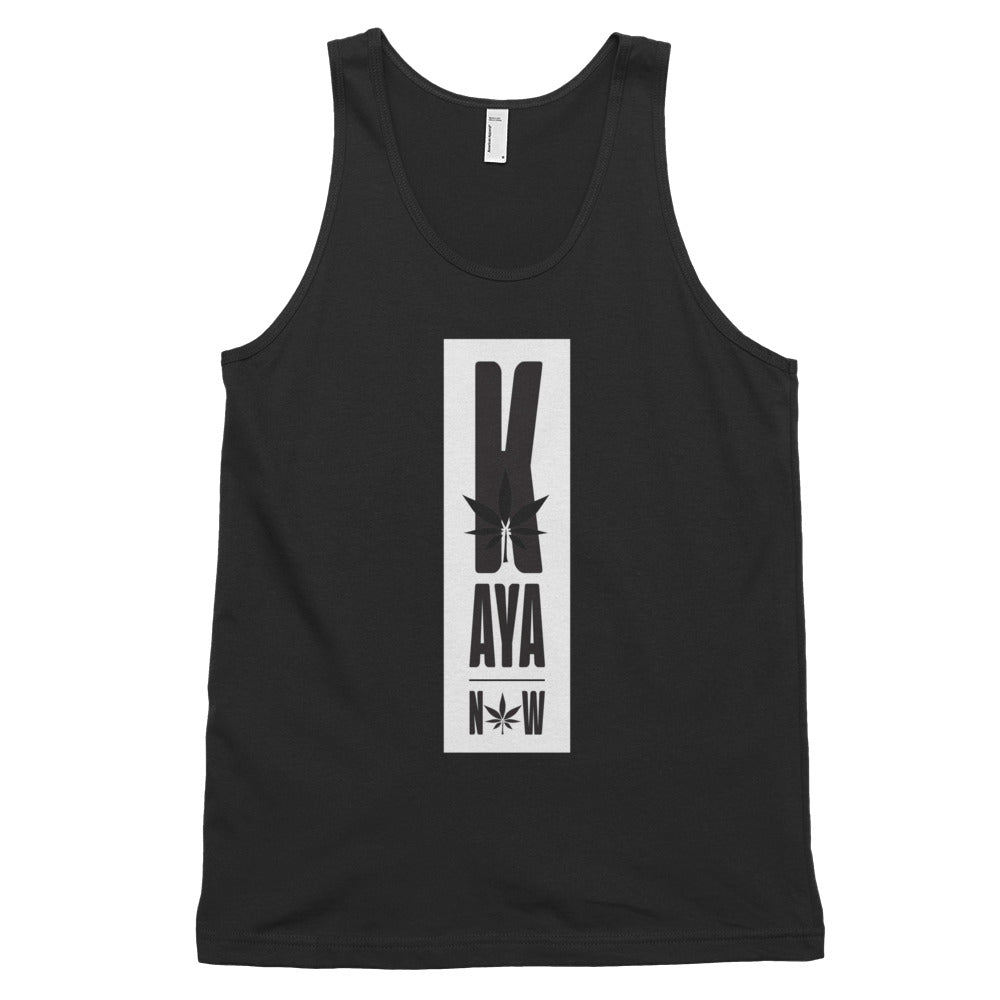 Men's Kaya Now White Loose Fit Tank Top