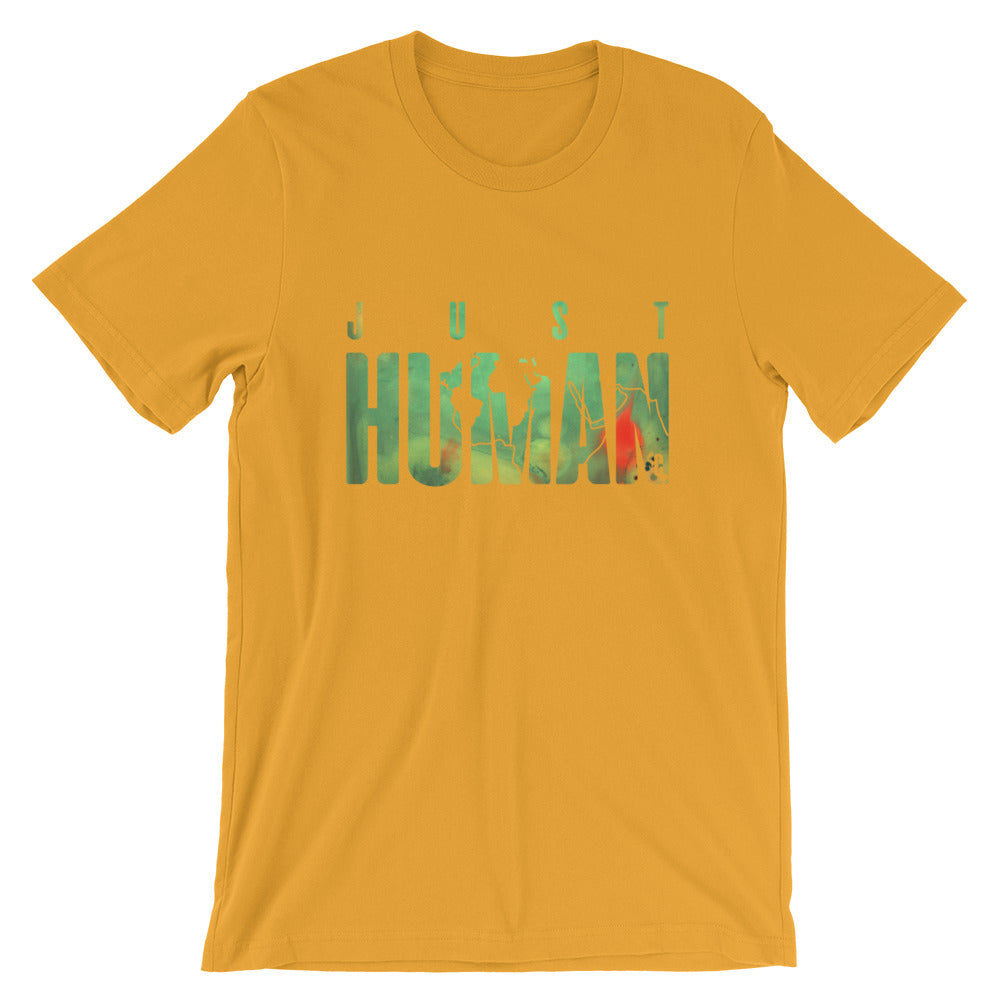 Men's JUST HUMAN Green Fire Crew Neck