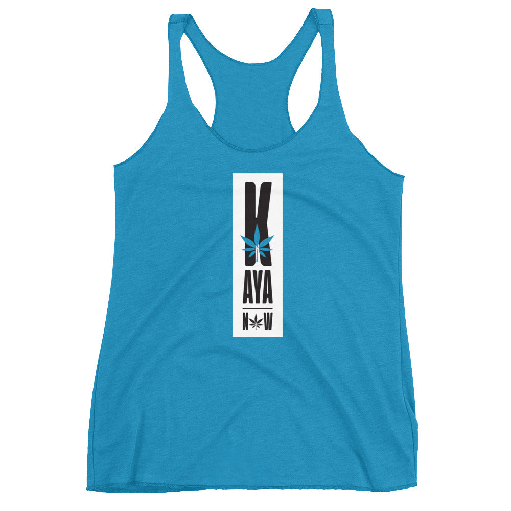 Women's Kaya Now White Racerback Tank Top