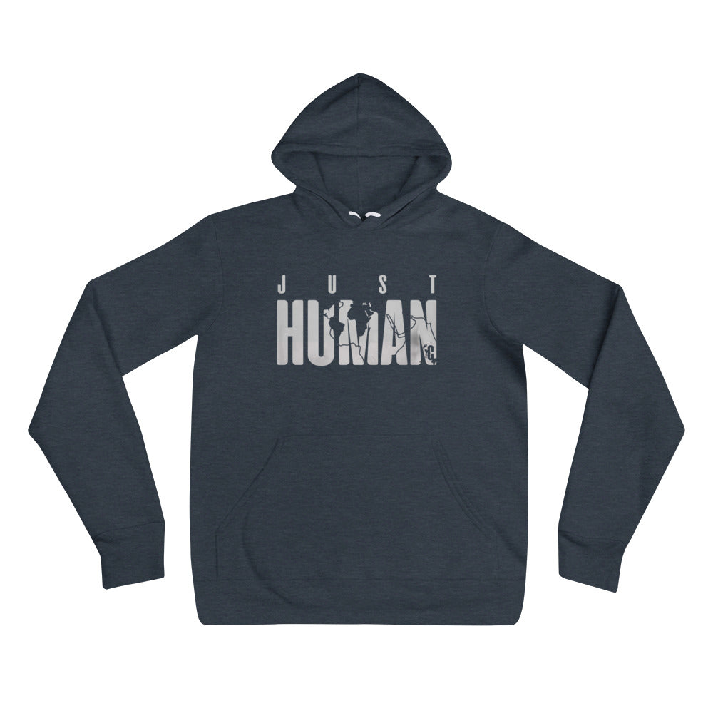Women's JUST HUMAN Grey Ice Pullover Hoodie