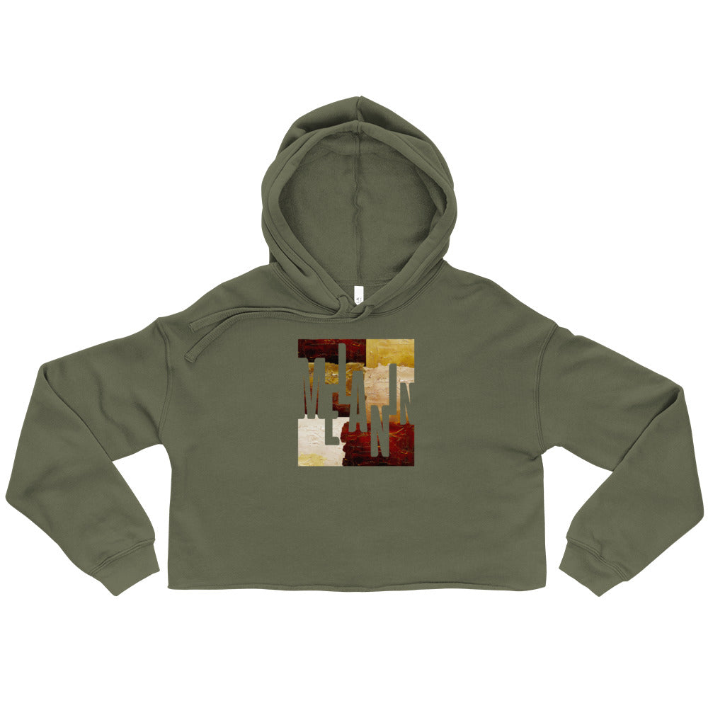Women's Melanin Painted Cropped Hoodie