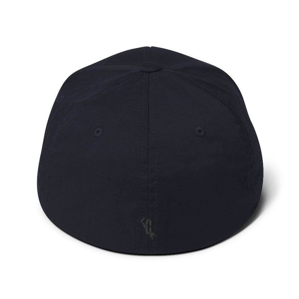 FEATURED: HUMAN Flexifit Structured Closed-Back Twill Black Cap