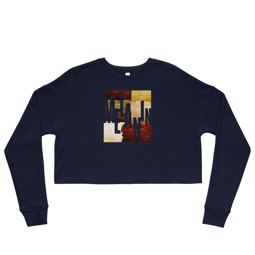 Women's Melanin Painted Cropped Sweatshirt