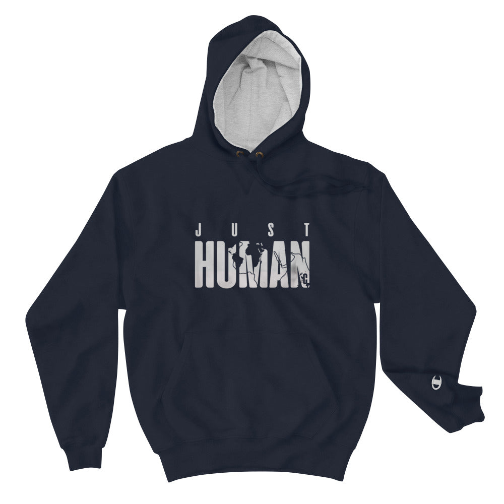 Men's JUST HUMAN Grey Ice Loose Fit Champion Hoodie