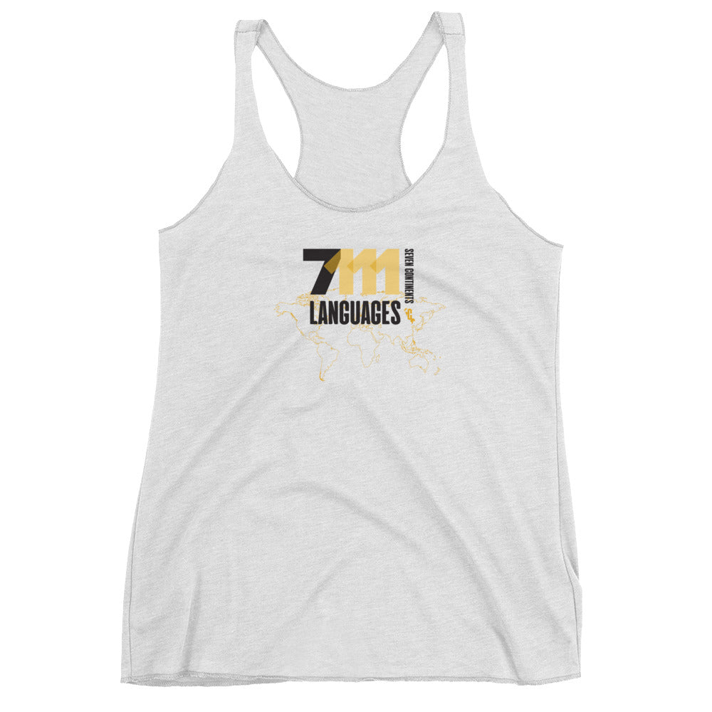 Women's Seventy-One Eleven Black Racerback Tank Top