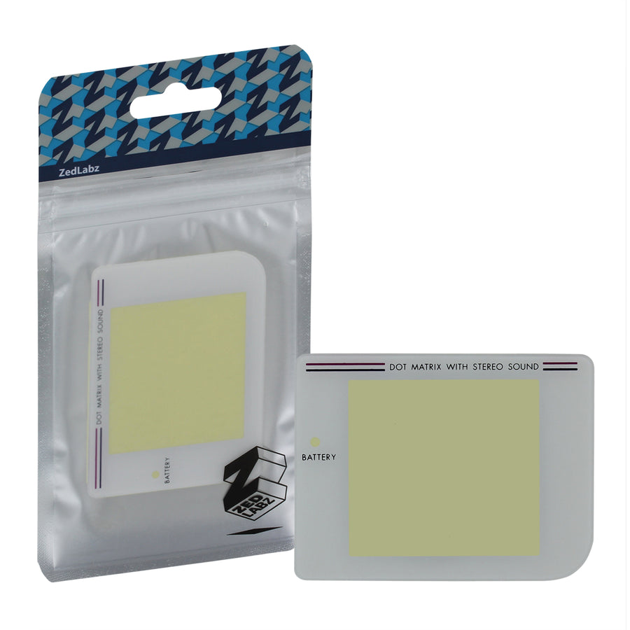 ZedLabz replacement plastic screen lens cover for Nintendo Game Boy  original DMG-01 with adhesive - white
