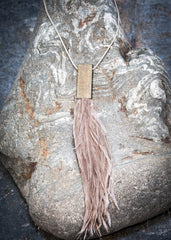 Nude Moon˚C Feather Necklace