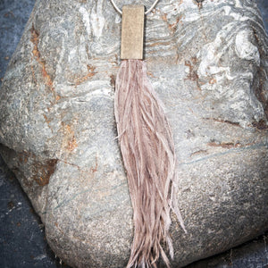 Moon˚C Nude Feather Necklace - WAS £25 - LAST 2 - Villancher Gifts &  Fashion Accessories