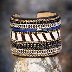 Africa Zebra Cuff - WAS £25- - Villancher Gifts &  Fashion Accessories