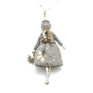 Baby doll Antonia Grey and Gold dress