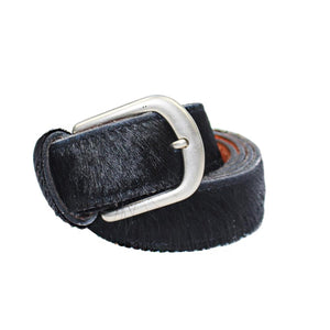 Black Pony Hair Belt - Villancher Gifts &  Fashion Accessories