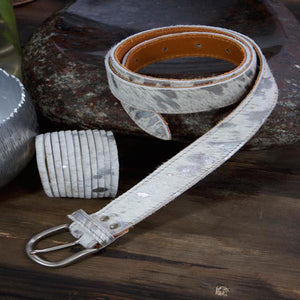 Belt Cream & Silver - Villancher Gifts &  Fashion Accessories