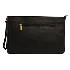 Large Clutch Pony Hair Black - Villancher Gifts &  Fashion Accessories