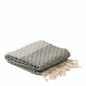 Turkish  Grey Hammam Damala Towel - Villancher Gifts &  Fashion Accessories