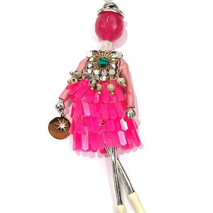 French Doll Necklace Francesca -PINK DIVA- - Villancher Gifts &  Fashion Accessories